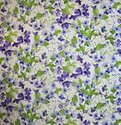 SPRING IN VERSAILLES PURPLE FLOWERS SEWING FABRIC *Free Oz Post