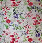 SPRING IN VERSAILLES PINK FLOWERS WRITING SEWING FABRIC *Free Oz Post