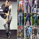 Womens Sports Gym Yoga Workout High Waist Running Pants Fitness Elastic Leggings