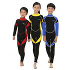 2.5mm Neoprene Full Length Kids Steamer Wetsuit Boys Girls Teen Surfing