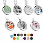 Fashion Aromatherapy Essential Oil Diffuser Pendant Locket Necklace + 13Pcs Pads