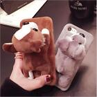 New Cute Schnauzer Chihuahua Dog Plush Phone Cover Case for iPhone 6 6s 7 Plus