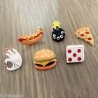 1PC Funny Enamel Hamburger Pizza Hot Dogs Ok Cute Food Brooch Pins Badge Corsage