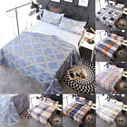 Bedroom 100% Cotton Soft Fitted Sheet Bed Sheet Pillowcase 4-Piece Bedding Set
