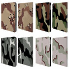 HEAD CASE DESIGNS MILITARY CAMO LEATHER BOOK WALLET CASE FOR APPLE iPAD AIR