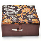 1 Pcs Embroidery Jewelry Box Chinese Traditional Storage Box Delicate Palette ob