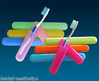 2 x Toothbrush Case Travel Cover ~ Plastic Holder, Store Brushes on Holidays