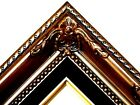 Brown Ornate Black Liner Wedding Studio Portrait Picture Frame B5BB