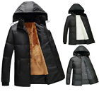 Mens Winter Hooded Warm Padded Coat Zip Quilted Jacket Outwear Overcoat Fashion