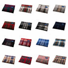 EDINBURGH 100% Cashmere Luxury Tartan Scarf Blue Label Various Colours B