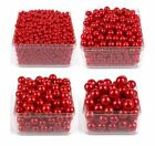 6-14mm red imitation plastic pearl beads for jewelry accessories DIY making
