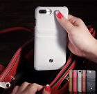 Genuine Leather Credit Card Holder Slot Back Hard Cover Case For iPhone 7 7 Plus