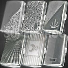 Cigarette Case King Size Metal Box Holder Big Silver Cases Tobacco 12 Cigarettes