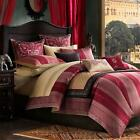 Sari Comforter Set Queen Size 100% Cotton Bedroom Bedding Burgundy Red