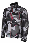 Klim Camo Grey/Black/Red Mens Tomahawk Non-Insulated Snowmobile Parka Jacket