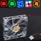 4 Pin 120mm CPU Cooling Fan PC Computer Clear Case Quad 4-LED Light 9-Blade12cm