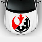 STAR WARS Rebel Alliance Galactic Empire 2-COLOR Vehicle Hood Decal Sticker $26.99 USD on eBay