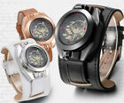 Case Close Detective Conan Flip Cover Laser LED Touch Screen Leather Wrist Watch