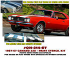 GE-QH-214-ST 1967-68 CHEVY CAMARO Z28 - HOOD & TRUNK - COMPLETE PAINT STENCIL
