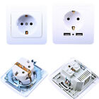 Home Wall Charger Adapter EU Plug Socket Power Outlet Panel Dual USB Port Gifts