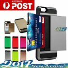 For Apple iphone 6 6s Plus Case Slide Credit Card Slot Holder Tough Slim Cover