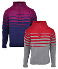 Girls Stripe Half Zip Funnel Neck Knit Fashion Jumper 2-14 Years CLEARANCE SALE