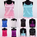 Womens Girls 16 Momme 100% Pure Silk Cami Tops Camisole Strap Shirts Aisilk