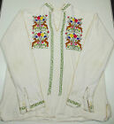 Vintage Mexican Boho Hippie Embroidered Poncho Shirt 1970's Women's Sz. Med.