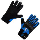 Tenn Unisex Leather & Carbon Cycling / MTB / Bike Knuckle Gloves - Blue/Black