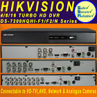 DVR 4/8/16/ CHANNEL HIKVISION TURBO HD TVI AHD FULL 1080P DIGITAL VIDEO RECORDER