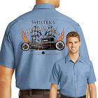 Hot Rod Retro Mechanic Work Shirt Rat Rod Garage Small to 6XL Free Shipping