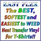EASY FLEX The Best, Softest and Easiest to Weed Heat Transfer Vinyl for T-Shirts