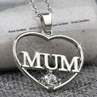 BLACK FRIDAY Xmas Gift For Her I Love You To The Moon Heart Necklace Silver Wife