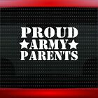Proud Army Parents #2 Car Decal Window Vinyl Sticker Mom Dad Soldier 20 COLORS!