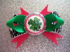 """2"""" Mini Boutique Dog Bow~St. Patrick's Day~Kiss Me~Pink Green Zebra~Girl~Clover"""