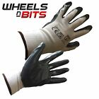 Size 9 L Nitrile Coated Precision Protective Safety Work Gloves Multi Purpose