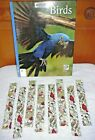 BOOKMARKS~BIRDS & BIRDHOUSES~Set Of 2~Fabric~Reversible~Washable~NEW~FREE SHIP