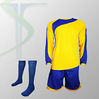 Football Team Kits - 15 x Rio Yellow / Blue - Full Team Kit - All Numbered !!!!