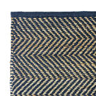 Hand Woven Rugs Jute/Cotton Blend- Chevron Design