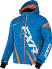 Boost Mens Blue Digi/Orange FXR Insulated Liner Snowmobile Jacket 170011-4130_