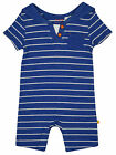 Baby Boys Nautical Stripe Sailor All in One Romper Blue Newborn to 12 Months