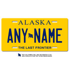 Personalized Alaska License Plate for Bicycles, Kid's Bikes, Atv's & cars Ver 2