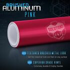 Brushed Aluminum Metallic Vinyl Film Wrap Sticker Bubble Free Air Release - Pink