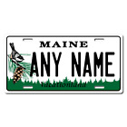 Personalized Maine License Plate for Bicycles, Kid's Bikes & Cars Ver 1