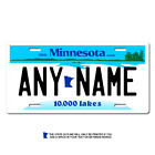 Personalized Minnesota License Plate for Bicycles, Kid's Bikes & Cars Ver 1