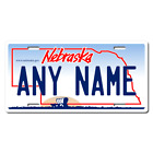Personalized Nebraska License Plate for Bicycles, Kid's Bikes & Cars Ver 1