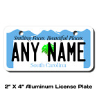 Personalized South Carolina License Plate for Bicycles,  Kid's Bikes