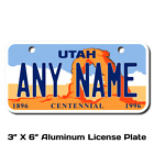 Personalized Utah License Plate for Bicycles,  Kid's Bikes & Cars & Trucks Ver 1