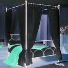 TAB TOP 4 POSTER BED SET- 8 PLAIN VOILE PANELS
