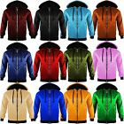New Ladies Women Anorak Light Weight Hooded Rain Coat Look ZIP Bomber Jacket TOP